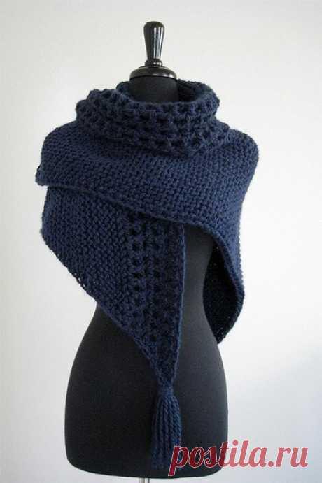 Плотный шарф-шаль для холодного сезона из категории Интересные идеи – Вязаные идеи, идеи для вязания