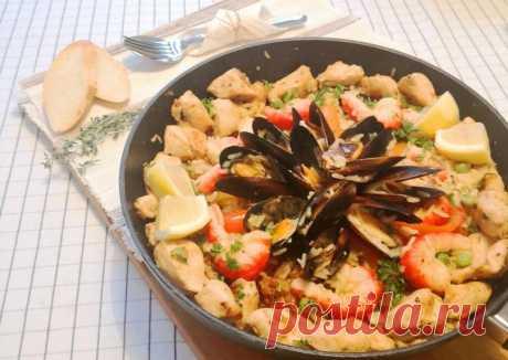 (11) Паэлья с морепродуктами - пошаговый рецепт с фото. Автор рецепта Ольга . - Cookpad