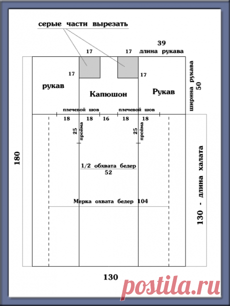Как сшить халат с капюшоном из махровой простыни - mmodnaya.ru