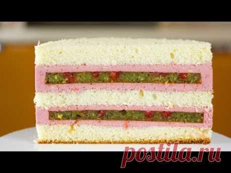 """РЕЦЕПТ ТОРТА """"ЯГОДНАЯ ПОЛЯНА"""". Сочный бисквитный торт с ягодами. Вкусный торт за пару часов."""