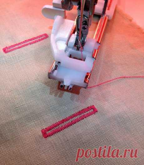 Как сделать петлю с помощью специальной лапки — Мастер-классы на BurdaStyle.ru