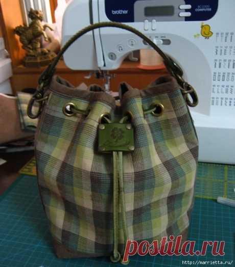 Handbag of sports style. We sew