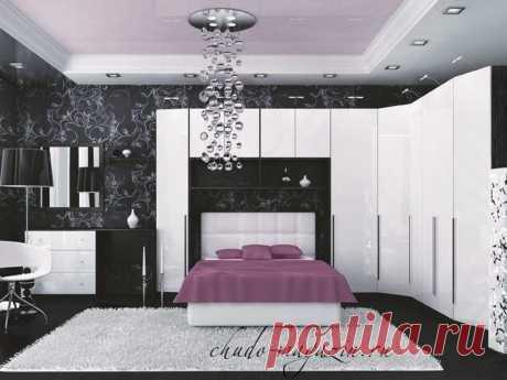 Шкаф угловой белый глянец для спальни: фото, цены, материалы