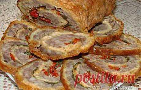 Рулеты из мясного фаршас начинкой - рецепт
