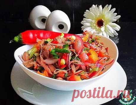 Салат с мясом и фасолью – кулинарный рецепт