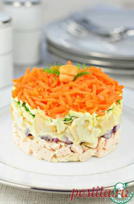 """Салат слоеный """"Карусель"""" - кулинарный рецепт"""