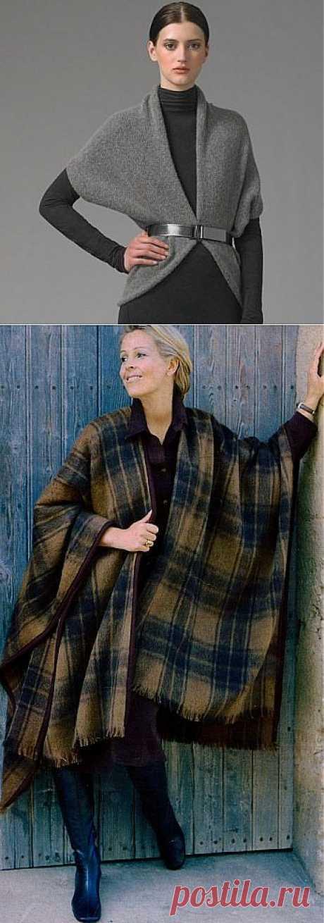 4 накидки (очень простые выкройки пальто) / Простые выкройки /