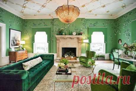 Зеленый в интерьере: используем цвет с умом