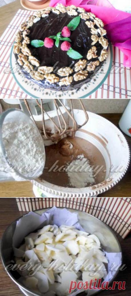 La carlota de chocolate con las manzanas, la receta