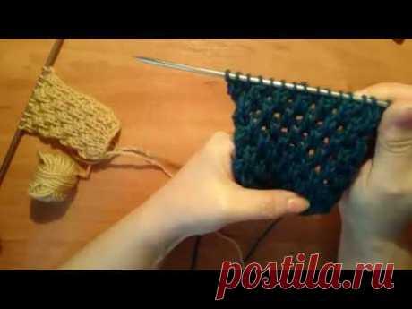 We knit spokes: @dvukhstoronny \/ volume \/ a pattern honeycombs \/ on seamy side