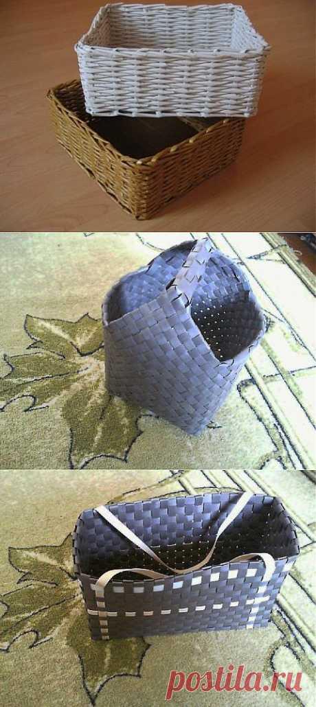 Плетение корзинки из старой газеты   МАСТЕРА