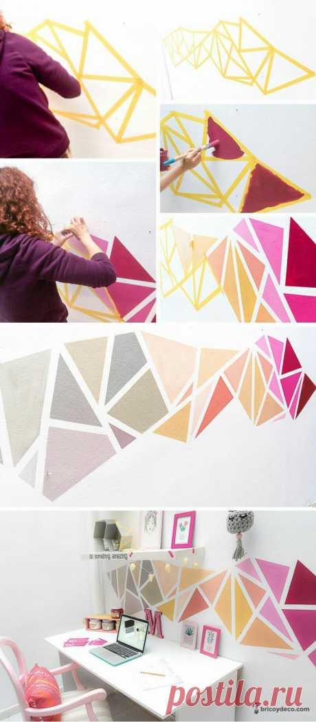 Быстрый декор стен (подборка идей) Модная одежда и дизайн интерьера своими руками