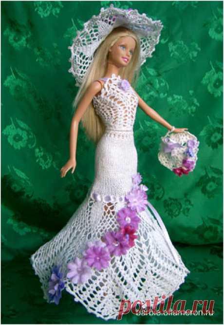 Барби. Вязание крючком. Куклы Барби. Схемы вязания и фото одежды для Барби.