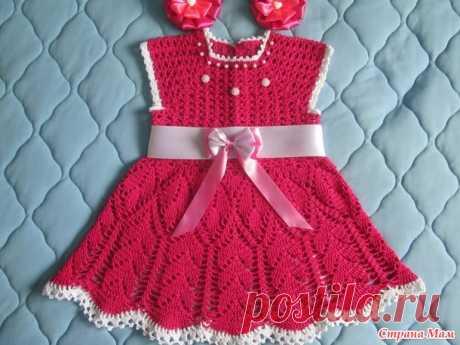 """Платье """"Фуксия"""" - Вязание для детей - Страна Мам"""