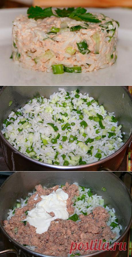 Простой салатик с консервированной рыбой Raznosole.ru