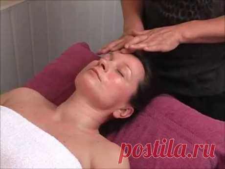 Индийский омолаживающий массаж лица - YouTube