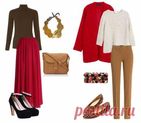 Как сочетать красный в одежде, удачные комбинации и советы