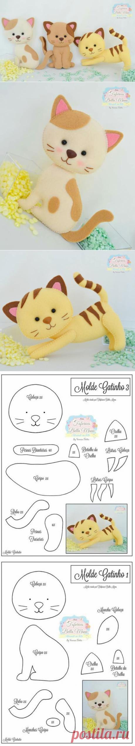 Котята из фетра (Шьем игрушки) | Журнал Вдохновение Рукодельницы