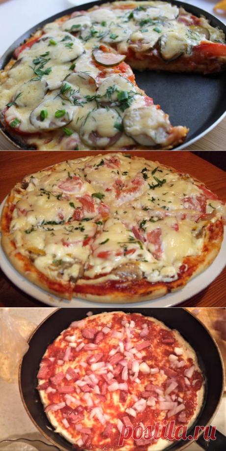 Пицца на сковороде за 5 минут — Женские секреты