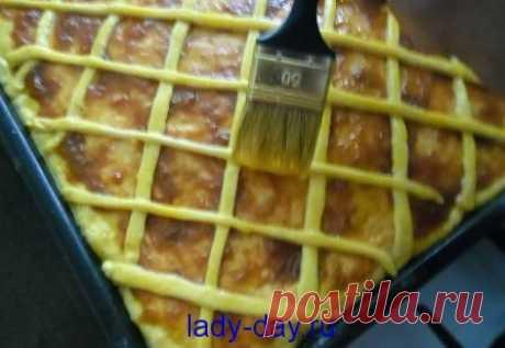 Пирог с повидлом и творогом из дрожжевого теста в духовке | Простые рецепты с фото