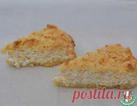 Творожно-яблочный тертый пирог – кулинарный рецепт