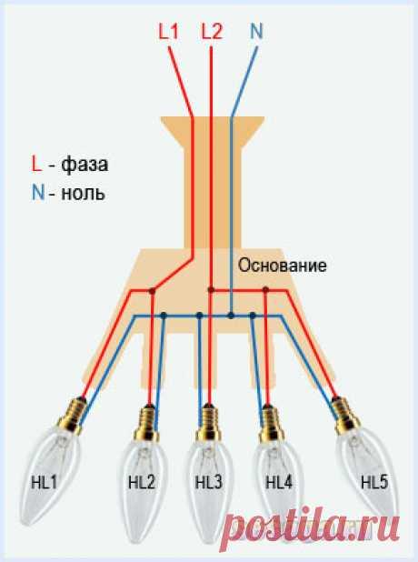 Как правильно подключить люстру