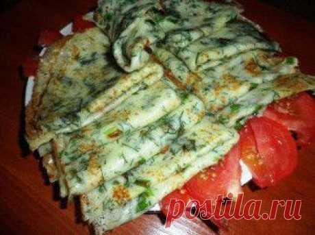 Летние блинчики с зеленью - Вкусные рецепты