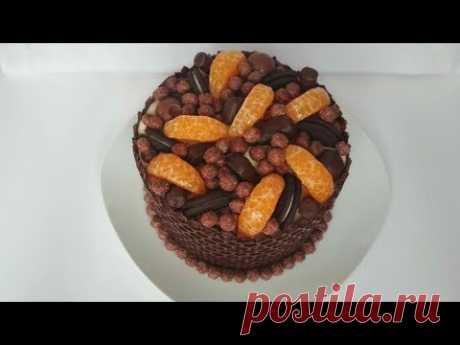 ШОКОЛАДНЫЙ Торт с МАНДАРИНОВЫМ Кремом. Вкуснота!!! Домашний торт на праздник.Chocolate cake