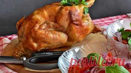 Курица в духовке целиком с хрустящей корочкой: рецепт с фото