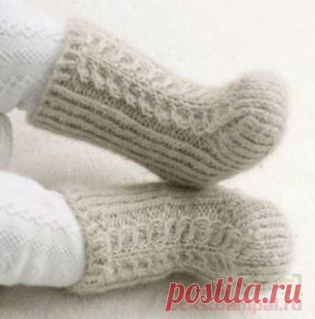 Детские носочки «Снежки» | ВЯЗАНЫЕ НОСКИ
