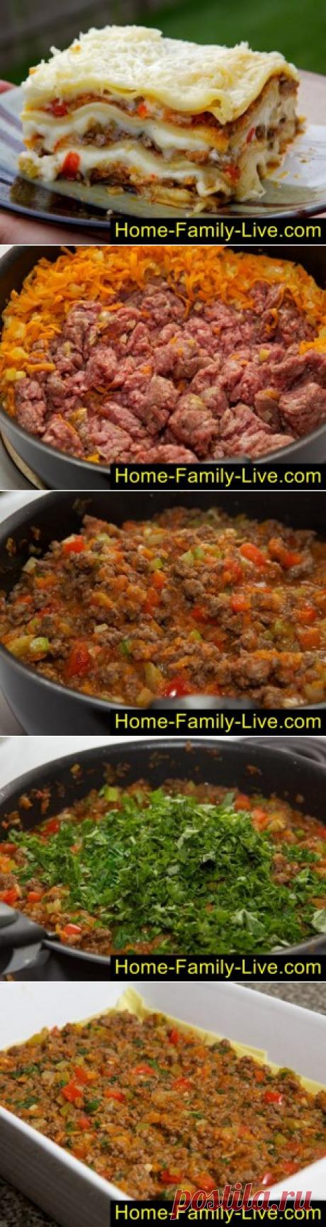 Лазанья мясная/Сайт с пошаговыми рецептами с фото для тех кто любит готовить