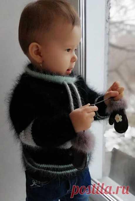 Детское худи спицами из пуха норки: необходимые материалы, описание, видео мк