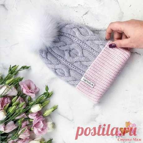 . Нежная двухцветная шапочка для девочки (девушки) - Вязание - Страна Мам