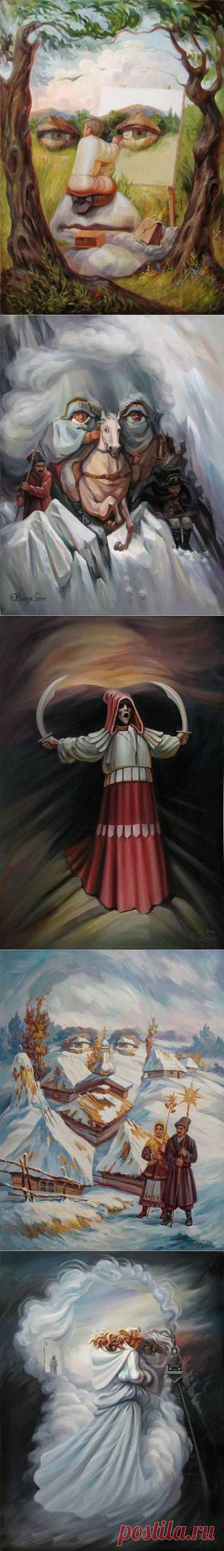 (+1) тема - Очень необычные картины Олега Шупляка | СДЕЛАЙ САМ!