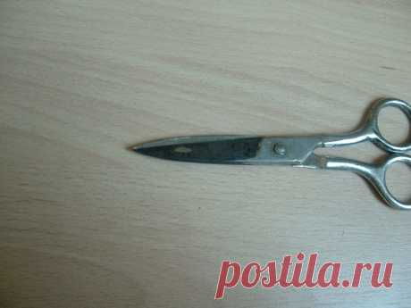 Простейший способ быстро наточить ножницы