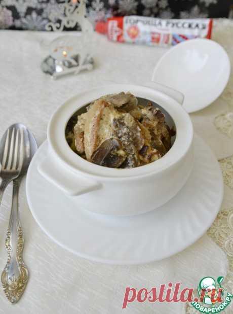 Свинина с грибами в горчичном соусе – кулинарный рецепт