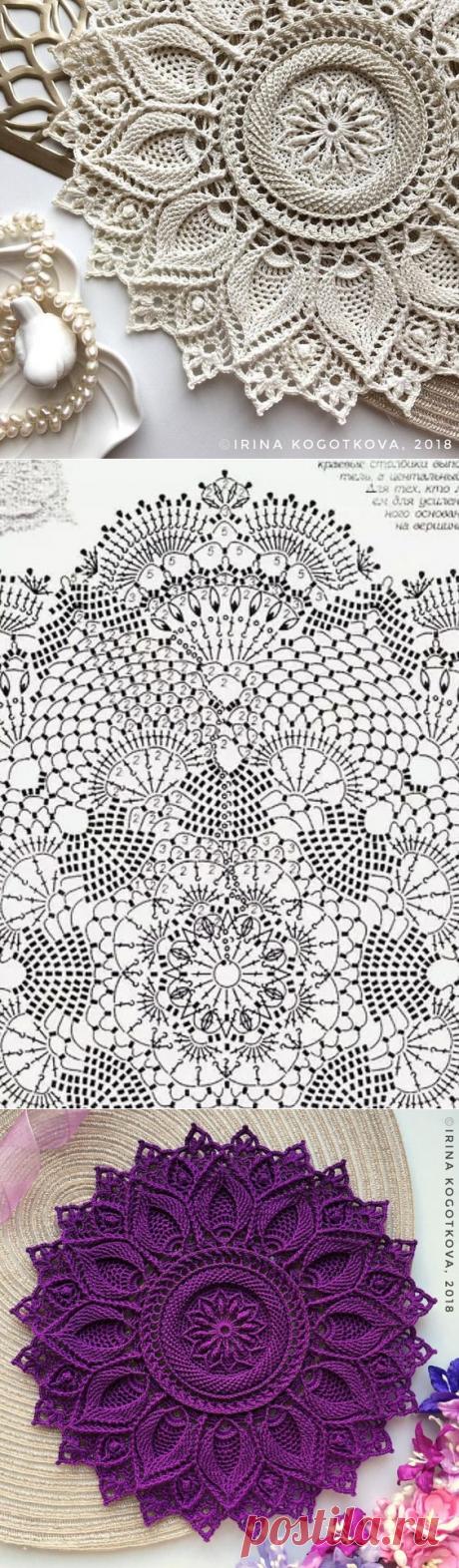 Фактурная салфетка крючком - Красивое вязание