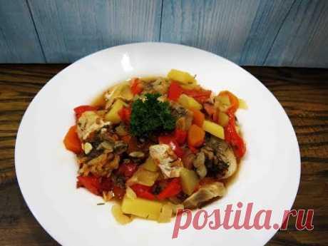 Овощное ассорти с рыбой/диетический рецепт/Vegetable assortment with fish, dietary recipe - YouTube