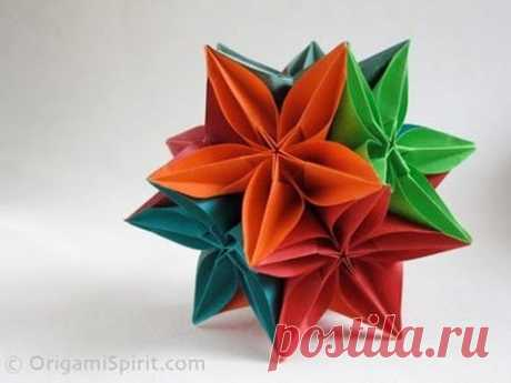Origami Instructions: Video on How to Make a Kusudama With a Carambola