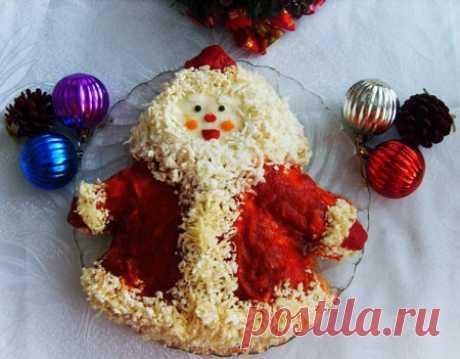 Салат «Дед Мороз» | Ленивая кухарка