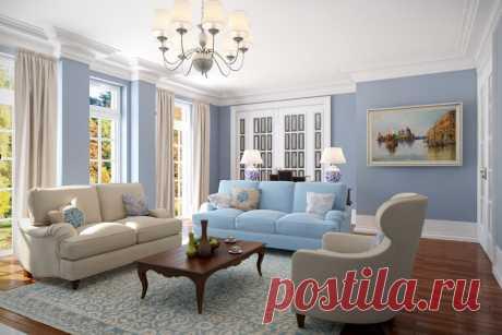 Голубой цвет в интерьере - как и с чем он лучше всего сочетается? Покажем лучшие дизайнерские палитры голубого и фотографии удачных интерьеров.   Смотрите полную подборку сочетаний голубых стен с мебелью, полами и дверями  #голубойвинтерьере#голубойсочетанияцветов#палитрыголубого#счемсочетатьголубой#СПБ#Stonefloor