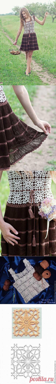 Платье на вилке и крючком от Алены Завеля.