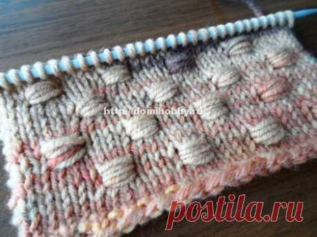 Вязание спицами - обвитые петли