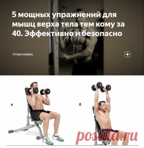 5 мощных упражнений для мышц верха тела тем кому за 40. Эффективно и безопасно | fitnechannel | Яндекс Дзен