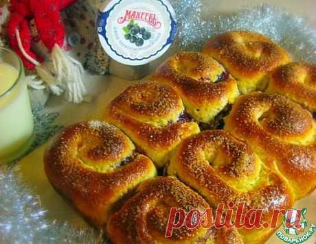 """Овсяные булочки """"Улитки"""" с джемом – кулинарный рецепт"""
