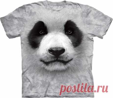 АРТ № 103558 Футболка The Mountain -  Big Face Panda Бесшовная футболка -варенка 100% хлопок Размеры Детские +  S, M, L,XL, XXL, XXXL Рисунок нанесен красками на водной основе. Не выгорает, не тянется