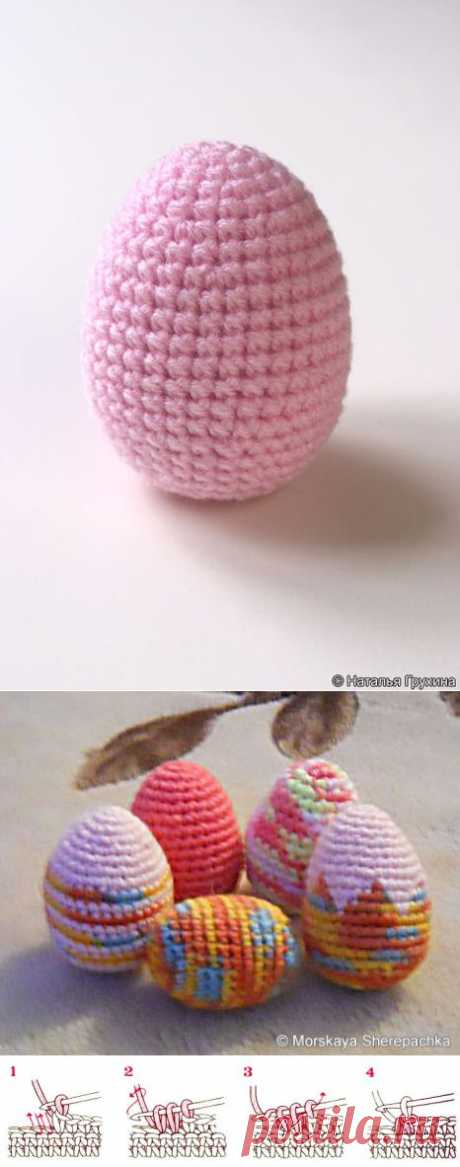 Вязаные пасхальные яица. Описание вязания пасхального яйца крючком..