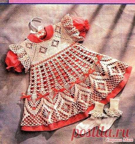 Платье детское вязание и ткань - Страна Мам
