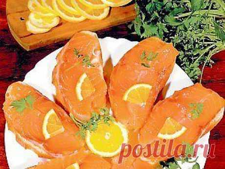 Бутерброды с соленой рыбой