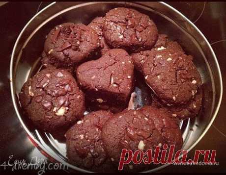 Chocolate nut cookies.